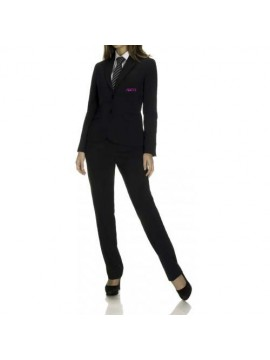 black suit and trouser receptionist uniform